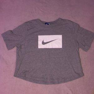 Nike medium cropped t shirt